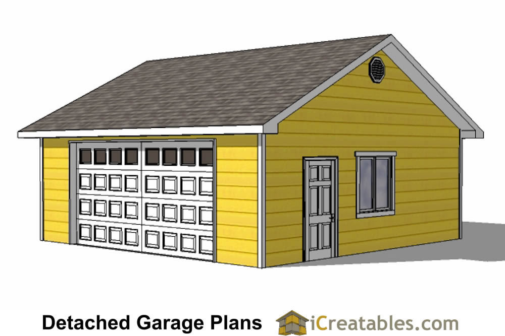 24x24 Garage Plans Door Under Eve