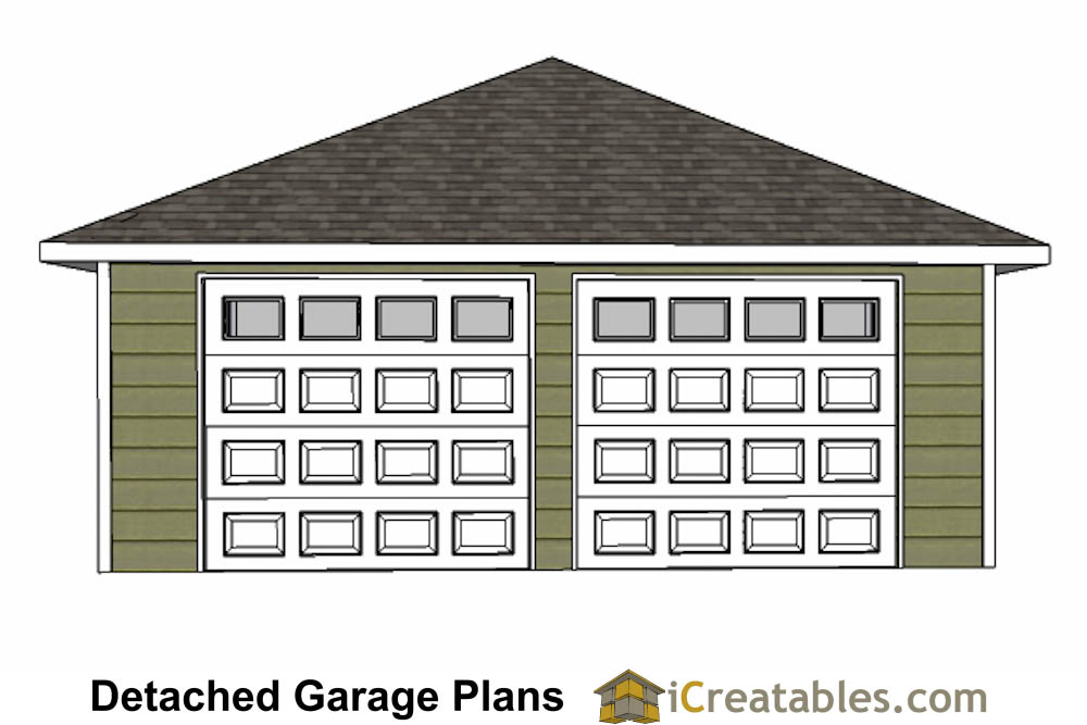 24x24 Garage Plans With Hip Roof – Hip Roof Garage Plans