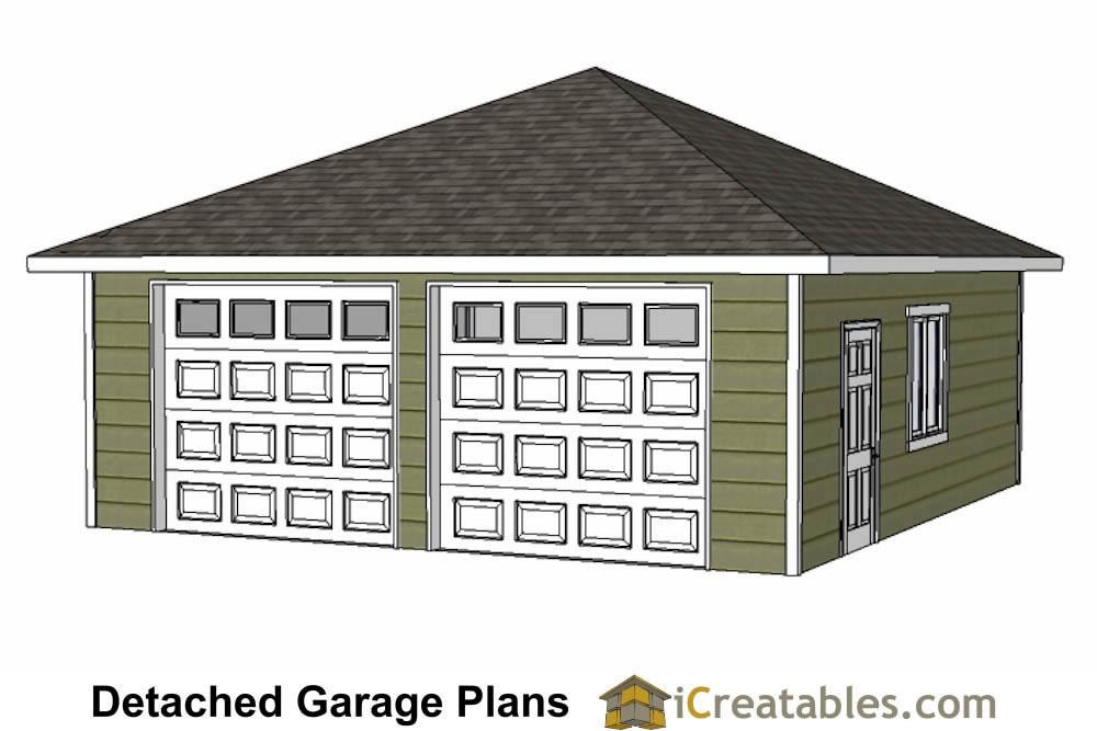 24x24 garage plans 24x24 garage plans for Hip roof garage plans