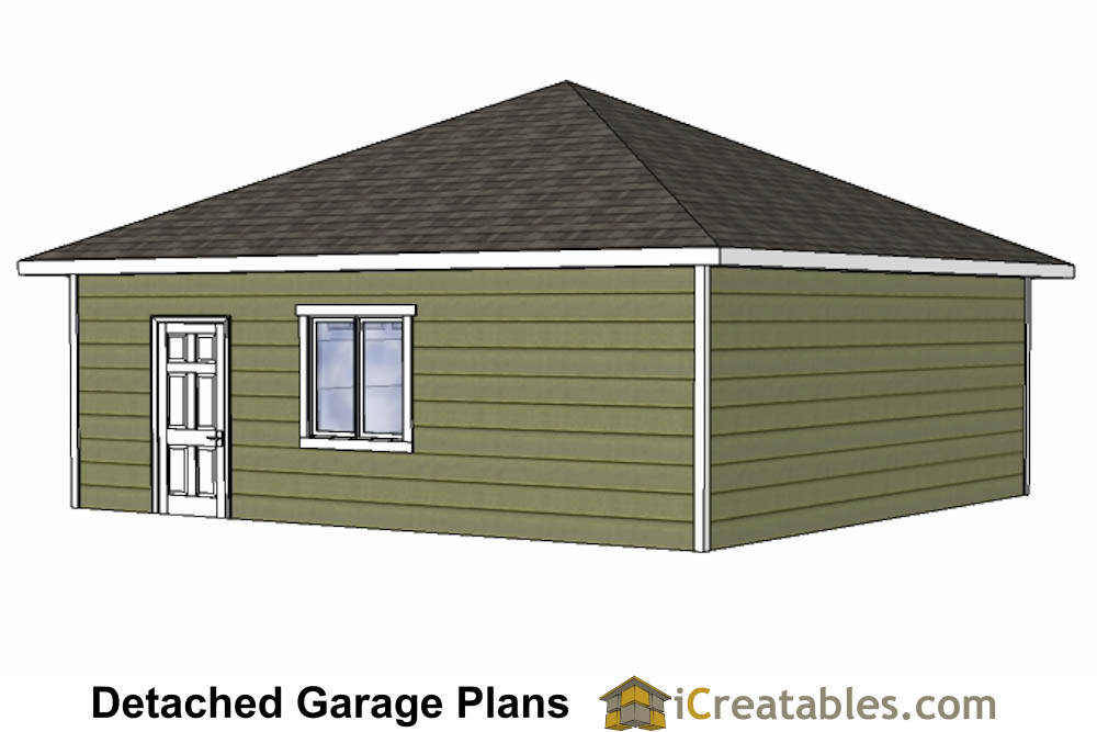 24x24 Garage Plans With Hip Roof