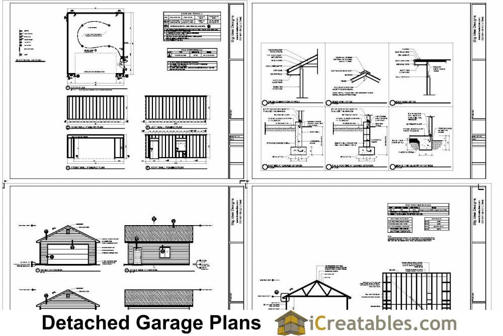 Custom Garage Plans Storage Shed Detached Garage Plans