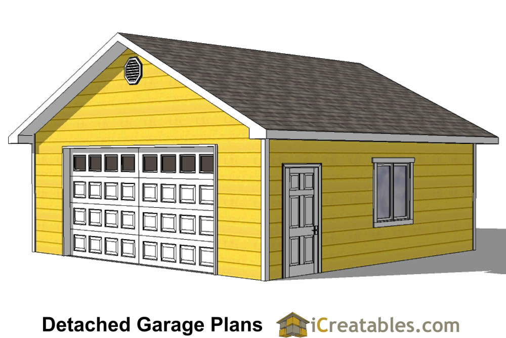 20x24 1 car detached garage plans download and build How much to build a new garage
