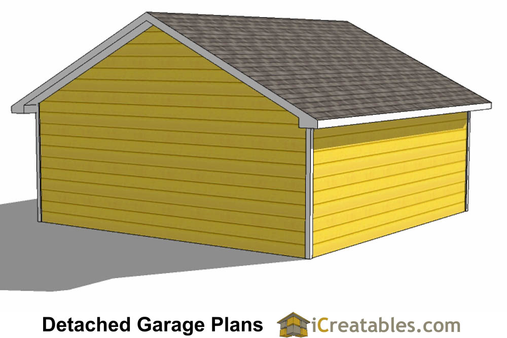 24x24 Garage Plans 2 Car Garage Plans