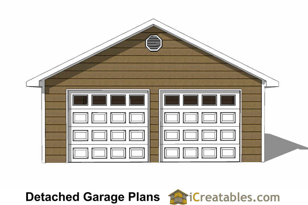 24x24 garage plans 2 car garage plans 2 doors for 2 door garage plans