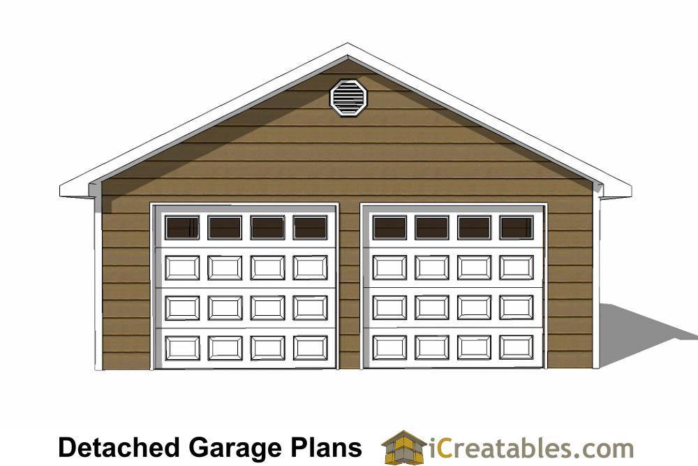 24x24 Garage Plans 2 Car Garage Plans 2 Doors