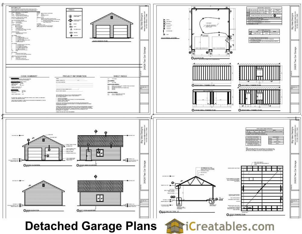 24x26 garage plans diy home improvement custom garage Garage floor plans free