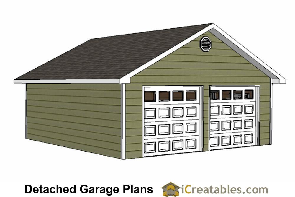 24x26 garage plans diy home improvement custom garage for Free 24x24 garage plans