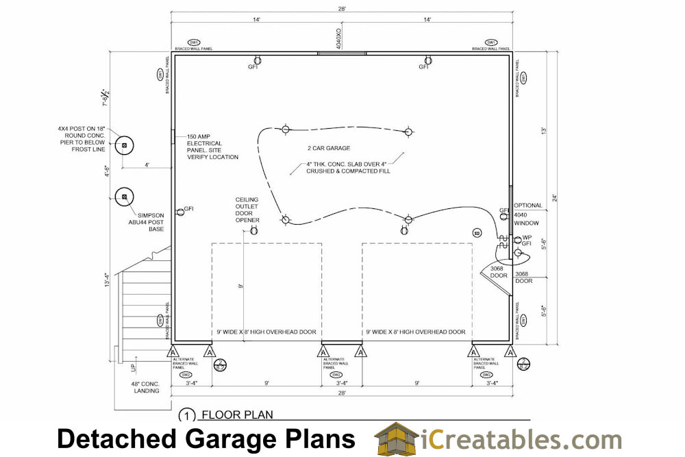 24x28 Garage Plans With Apartment Shed Design
