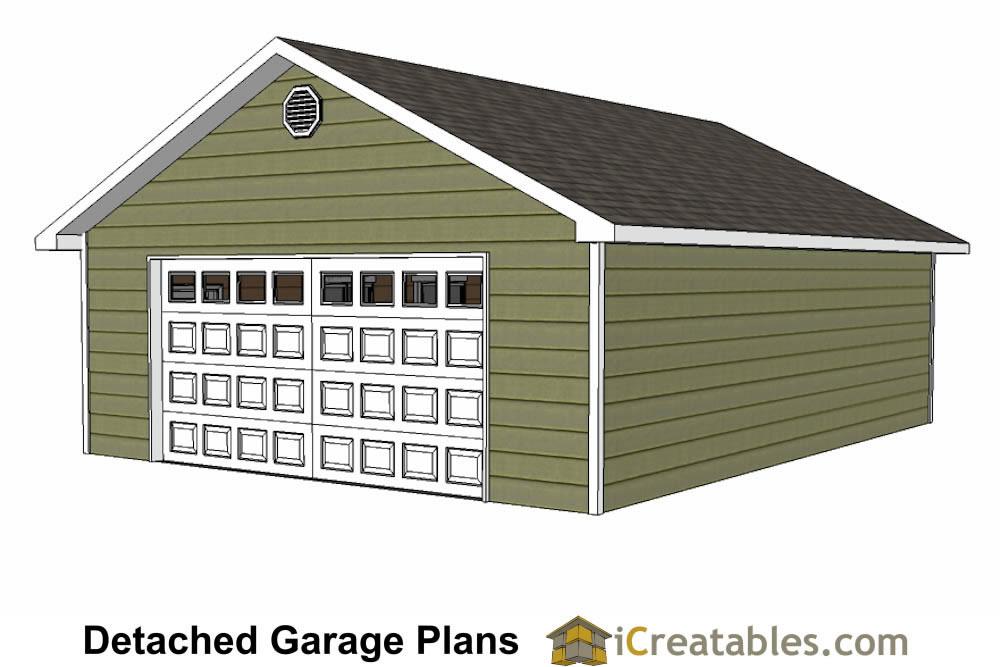 24x32 garage plans single door for 24x32 house plans