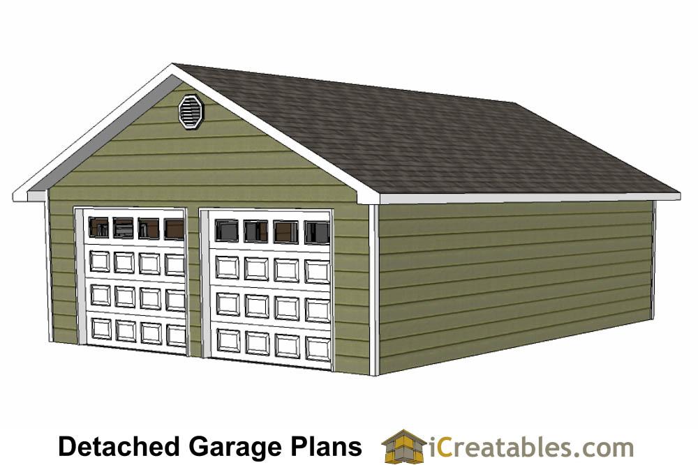 24x32 Garage Plans