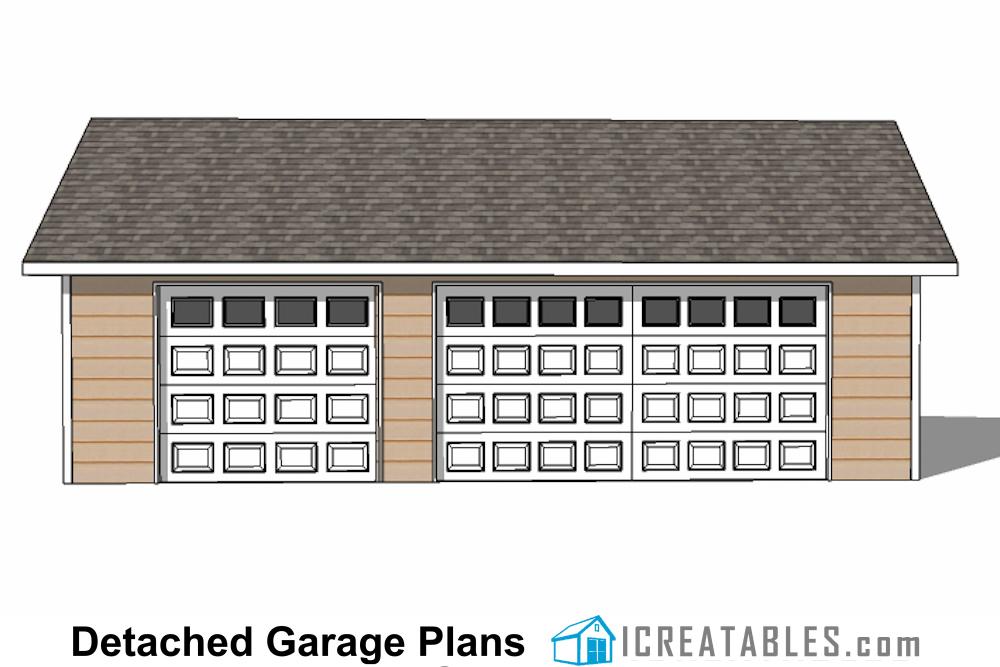 24x34 Garage Plans 3 Car Garage Plans 2 Doors