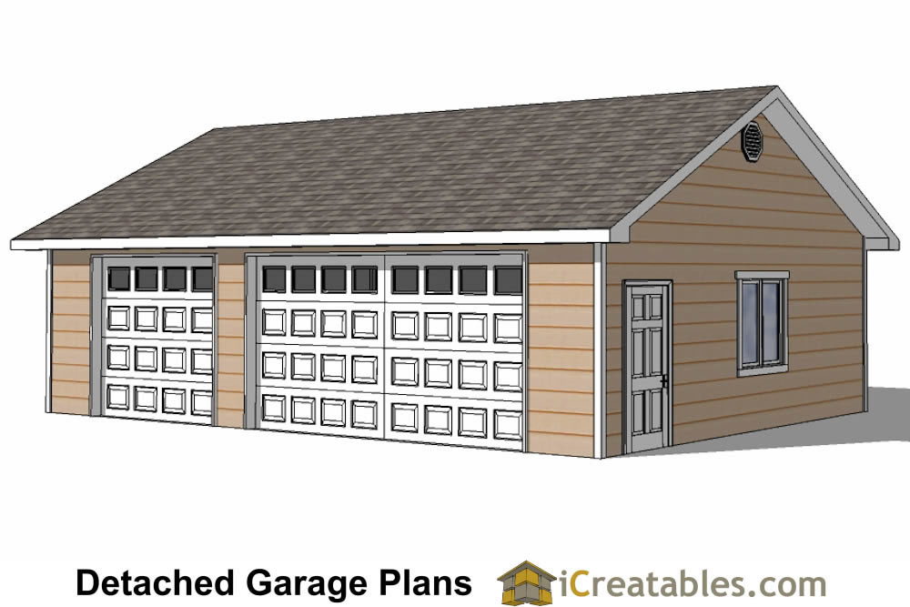 Detached 3 car garage plans home desain 2018 for Three car detached garage plans