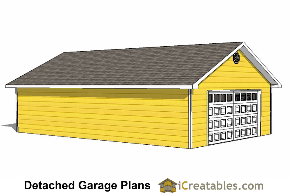 24x40 garage plans 24x40 detached garage plans for Single car detached garage plans