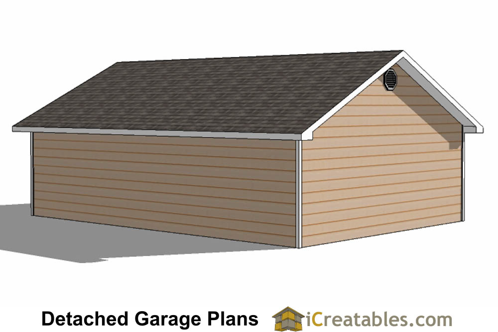 30x34 Garage Plans 3 Car Garage Plans 2 Doors