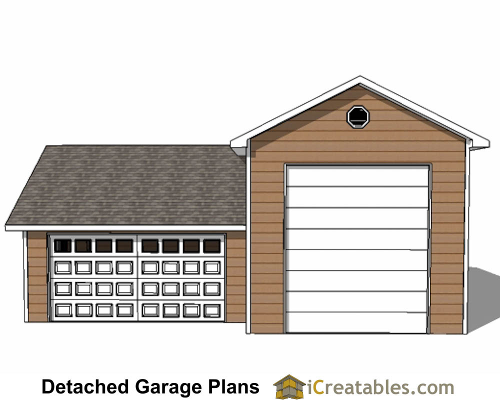 34x38 rv garage plans with 2 car garage for Two car garage with workshop plans
