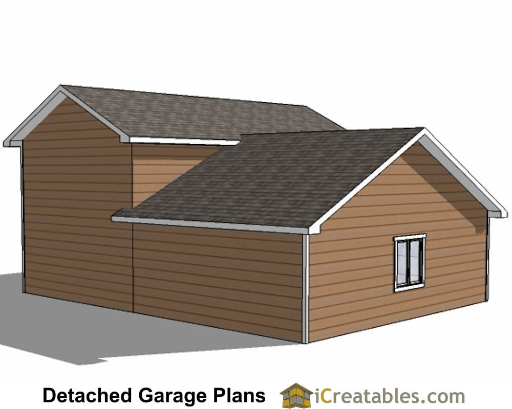 34x38 rv garage plans with 2 car garage for Rv with garage