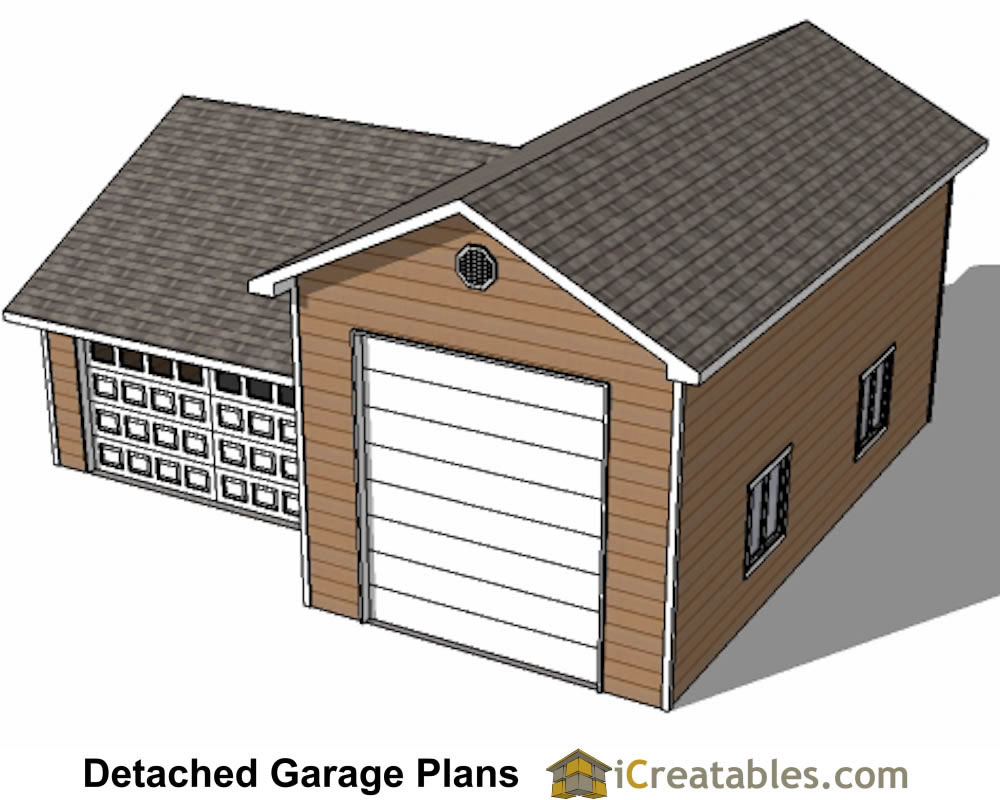 34x38 rv garage plans with 2 car garage for Height of rv garage door