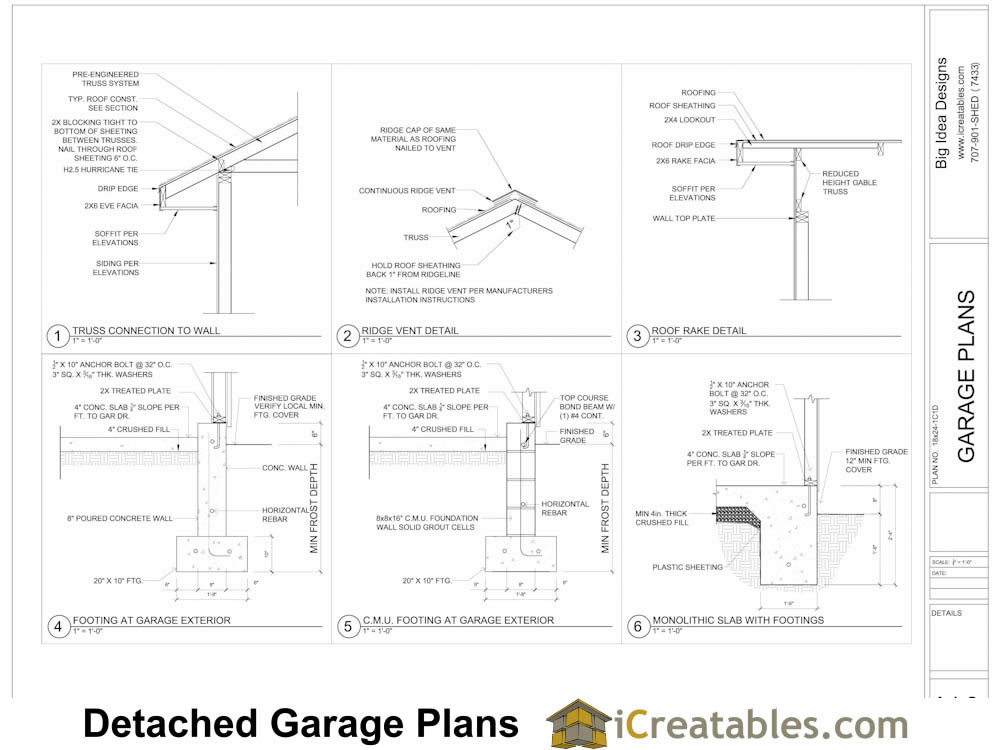 Garage Plans Examples View Full Size Garage Plans By