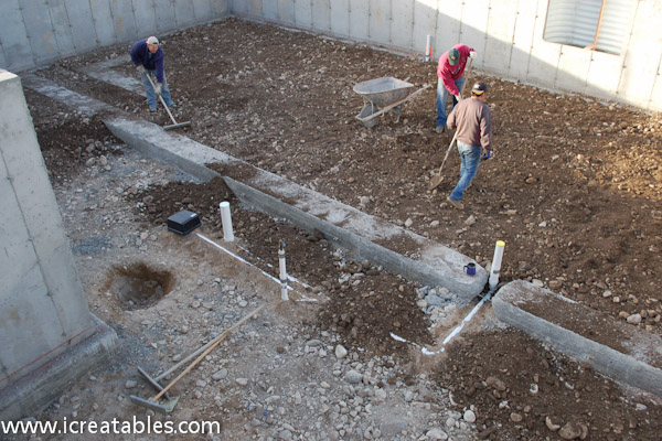 Pour Basement Concrete Slab For New Home Icreatables Com