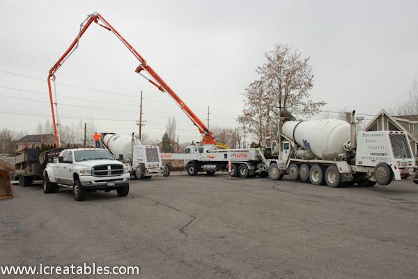 how to build a concrete pump