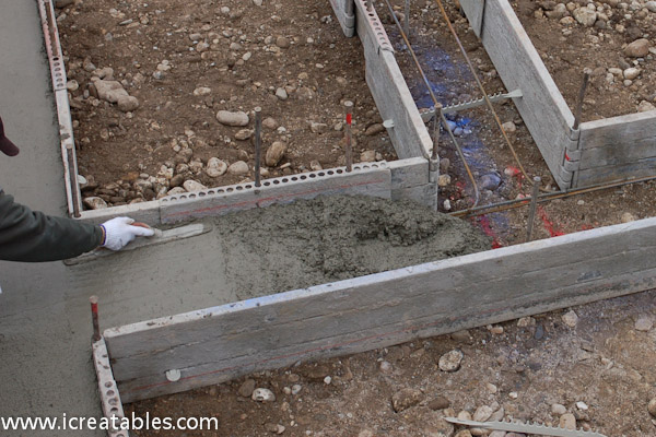 Concrete footings for a house for Cement foundation forms