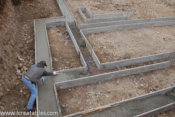 Image gallery building footings for Building a concrete house