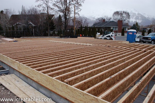 floor joists laid out