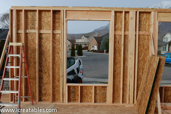 framing wall sheeted window