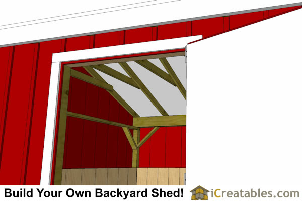 10x10 One Stall Horse Barn Plans Small Horse Barn Plans