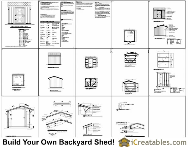 10x10 one stall horse barn construction plans