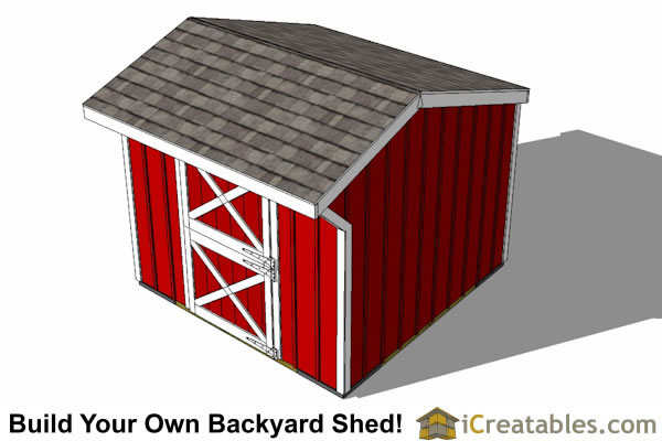 10x10 one stall horse barn top