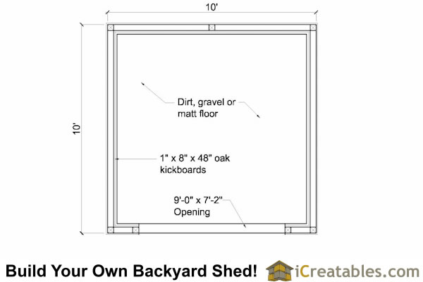 10x10 run in shed floor plan