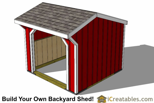 Run In Shed Plans Building Your Own Horse Barn ICreatables