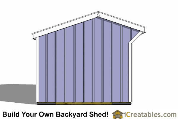 10x14 run in shed end