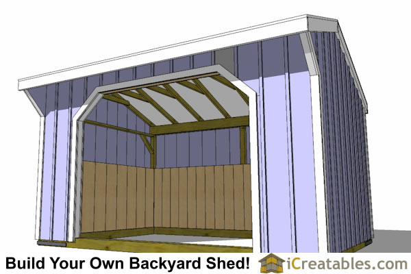 10x14 run in shed inside