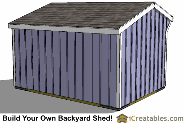 10x14 run in shed rear