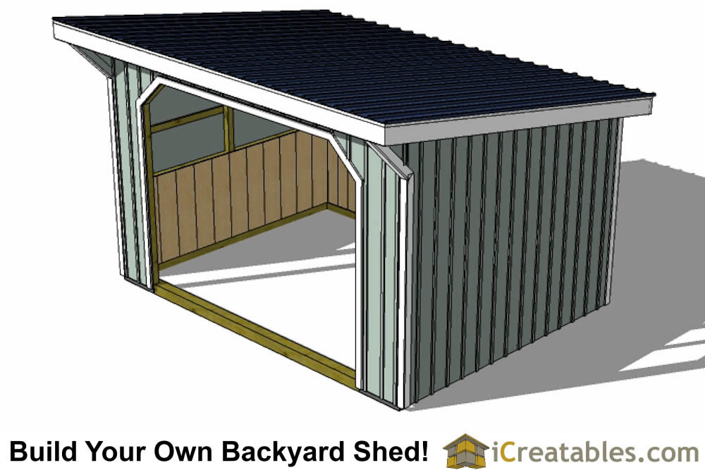 10x16 run in shed plans with wood foundation for Best shed plans