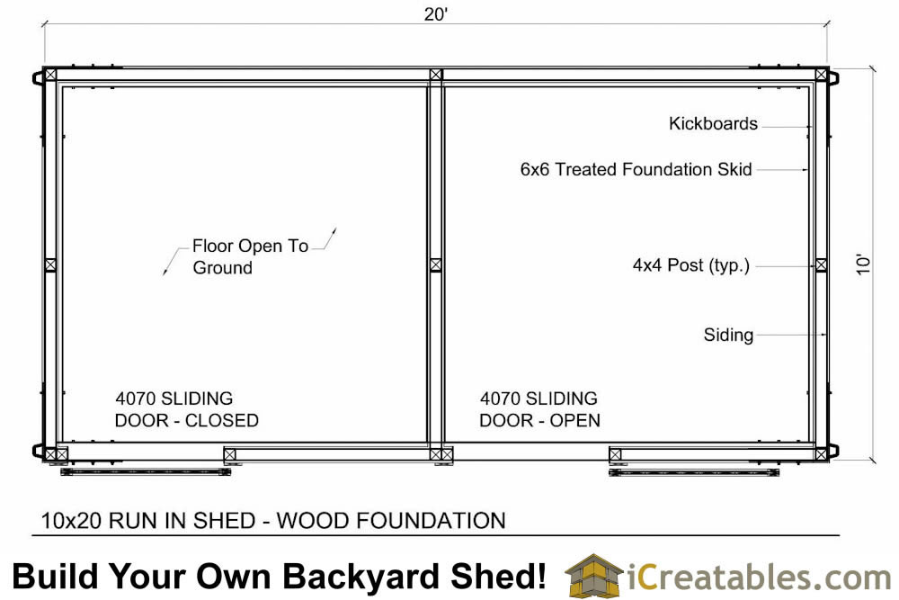 10x20 horse barn plans with wood foundation for 10 stall horse barn floor plans