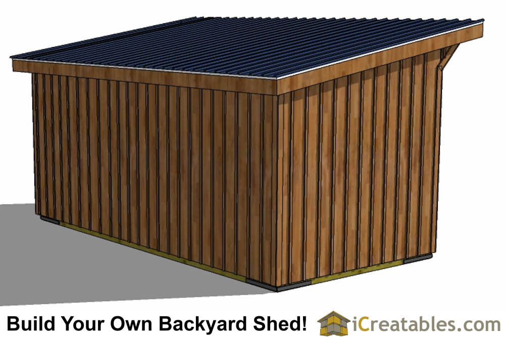 10x20 horse barn plans top view