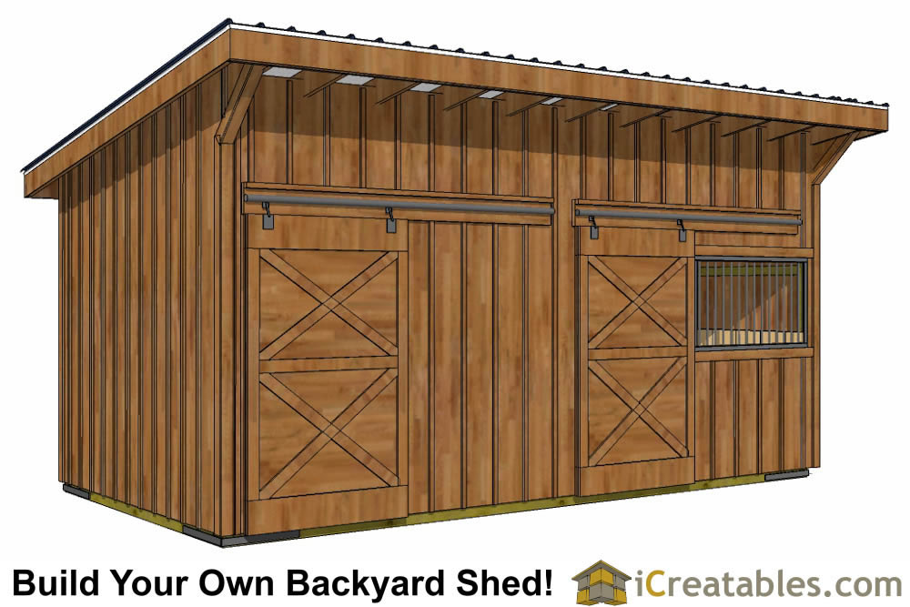 Run in shed plans building your own horse barn icreatables for Design and build your own shed