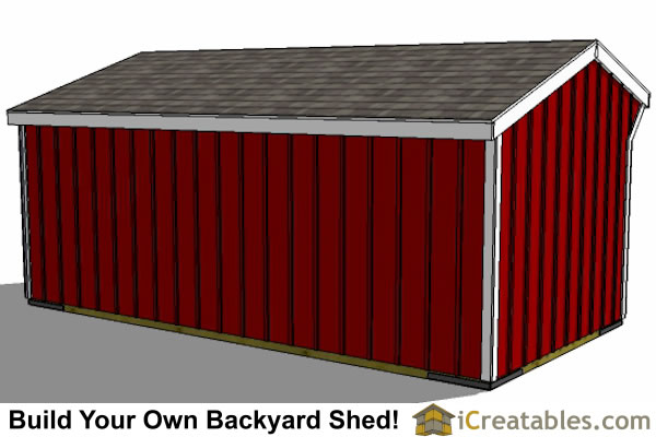 10x20 Run In Shed Left Rear view