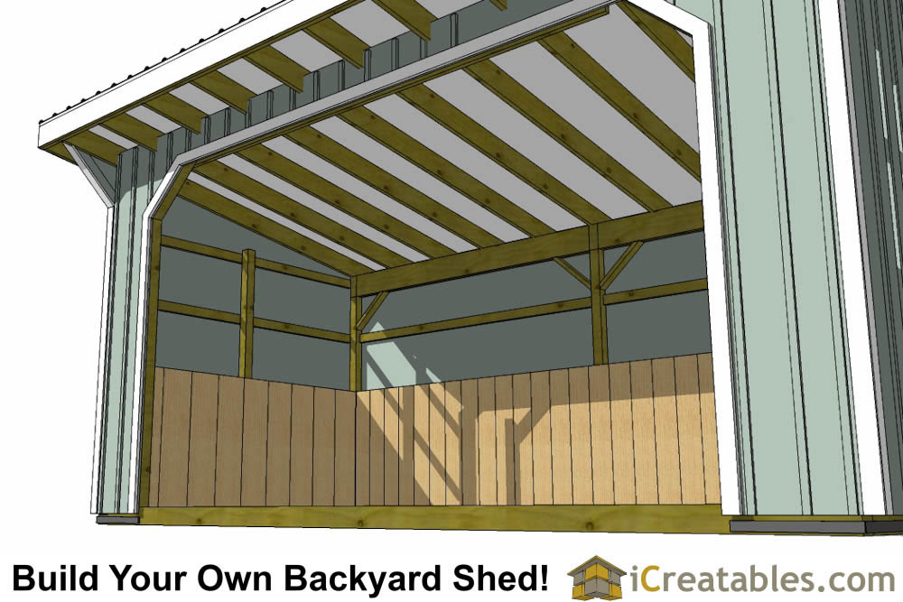 10x20 run in shed plans left elevation