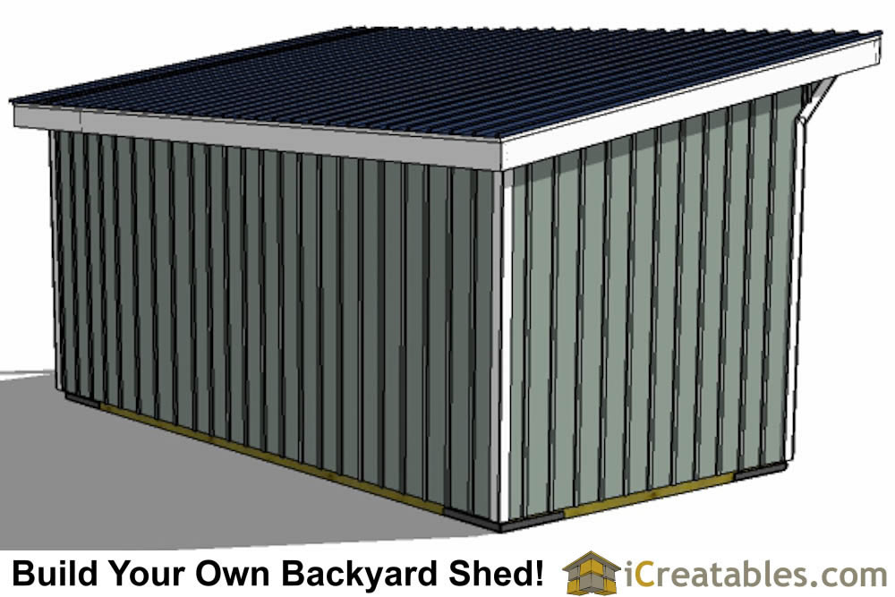 10x20 run in shed plans top view