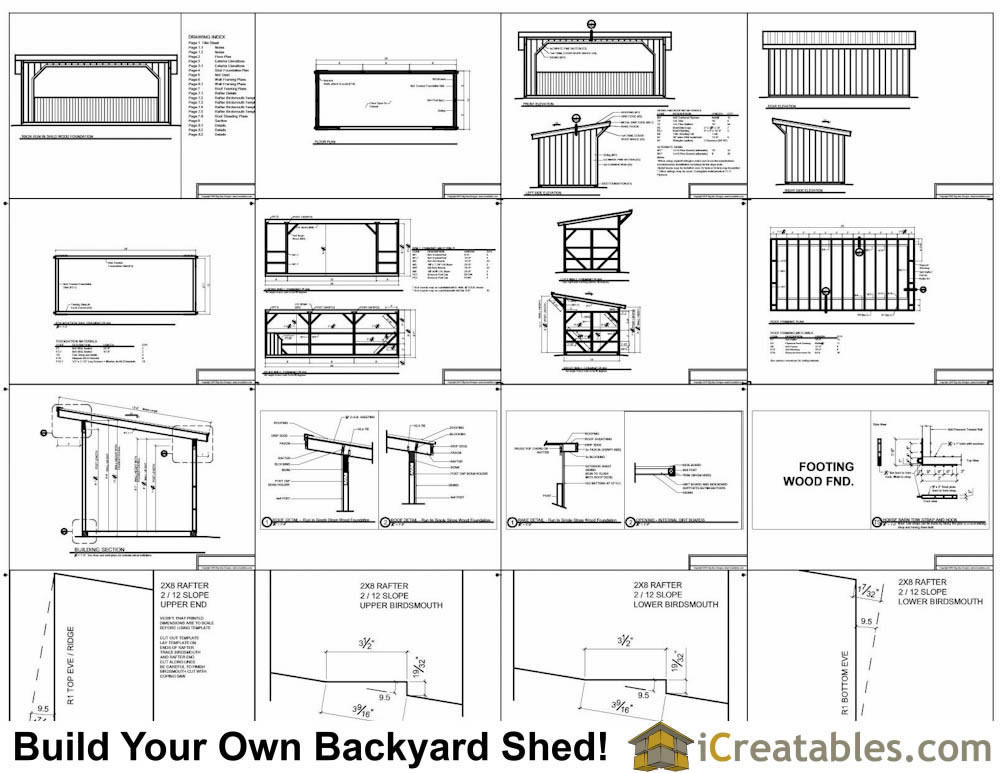 10x24 run in shed plans
