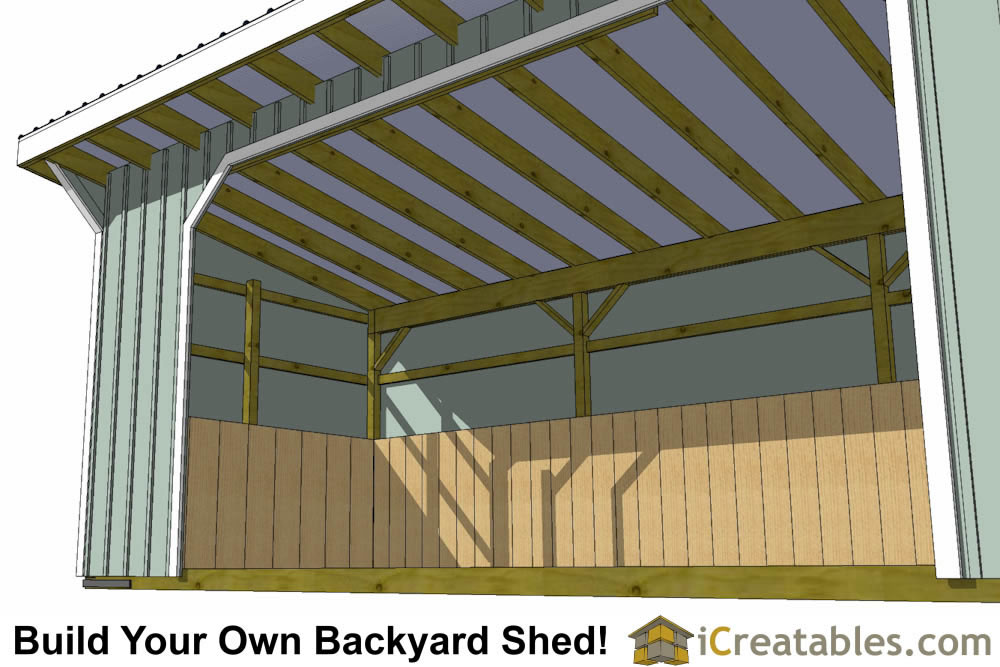 10x24 run in shed plans left elevation