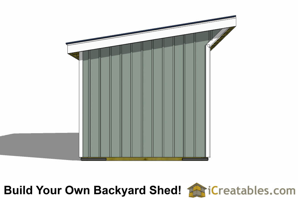 10x24 run in shed plans left rear