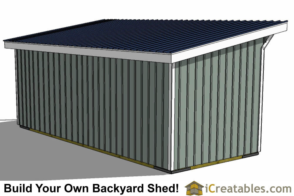 10x24 run in shed plans top view