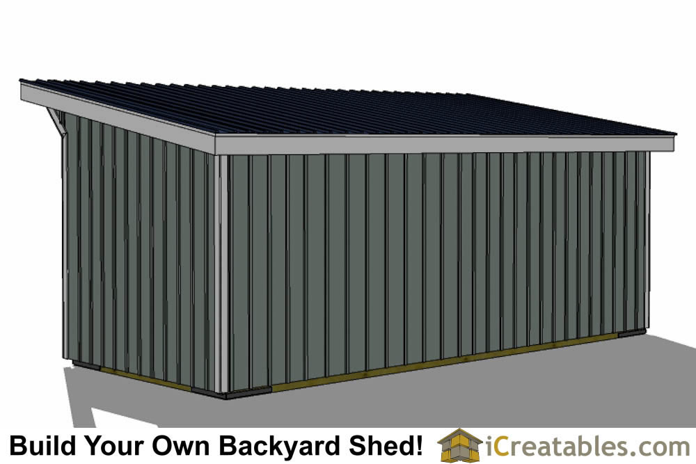 10x24 run in shed plans inside