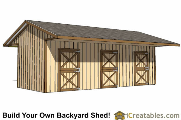 Run in shed plans building your own horse barn icreatables for 4 stall barn designs