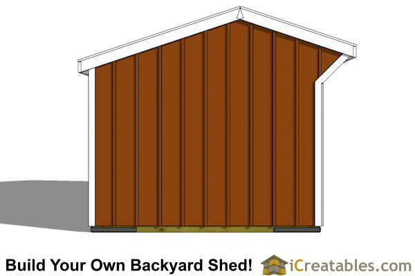 12x16 run in shed plans end